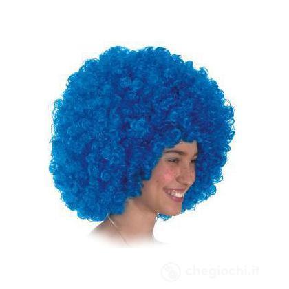 Parrucca azzurra riccia