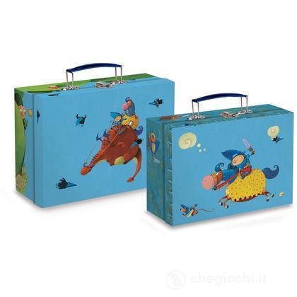 2 valigie dei cavalieri