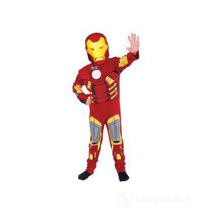 Costume Iron Man con muscoli taglia M