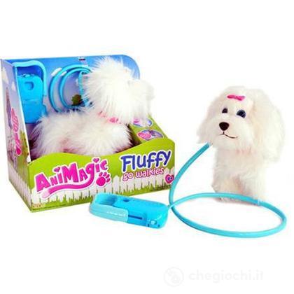 Fluffy Cane Con Guinzaglio