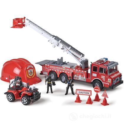 Camion Pompiere a Frizione con Elmetto (GG50268)