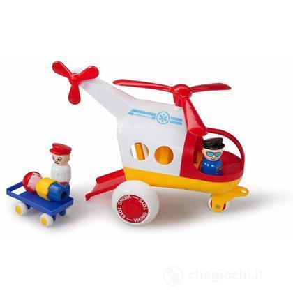 Jumbo aerei - elicottero soccorso con 3 personaggi