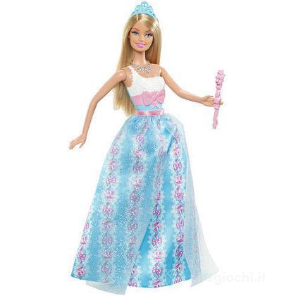 Barbie principessa al party - Barbie abito blu (W2857)