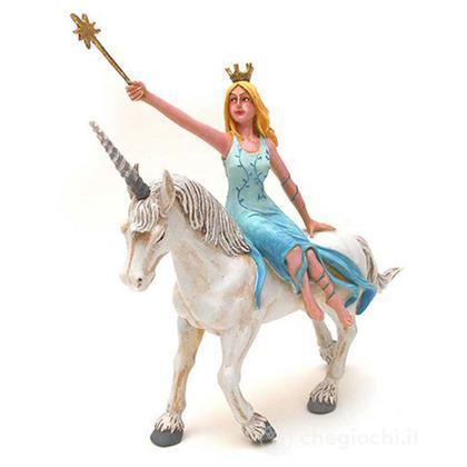 Fata turchese su unicorno