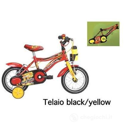 """Bici 12"""" Monopoli Black/Yellow"""