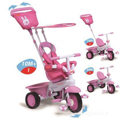 Triciclo 3 in 1 Elite Rosa (1460233)