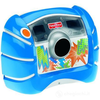 Macchina fotografica digitale blu (V2751)
