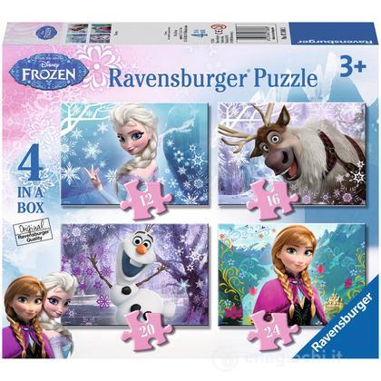 Frozen 4 puzzle in 1