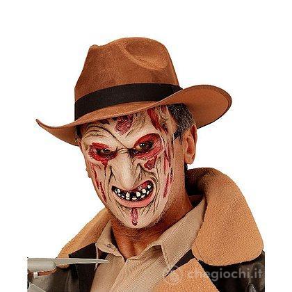 Maschera da Assassino Ustionato a Mezzo Viso in Taglia Unica Adulto