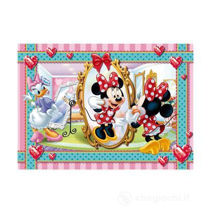 Puzzle 104 pezzi Minnie: make up and jewels