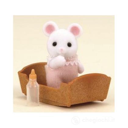 Bebè topolino bianco con accessori (3420)