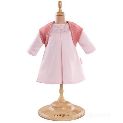 Vestito Rosa & cardigan (Y5455)