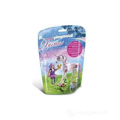 Fata con unicorno Morning dew (5440)
