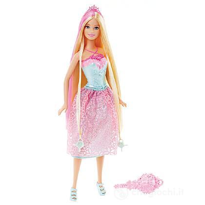 Barbie Principessa Chioma da Favola Rosa