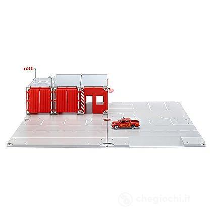 Caserma con veicolo dei pompieri in miniatura (5502)