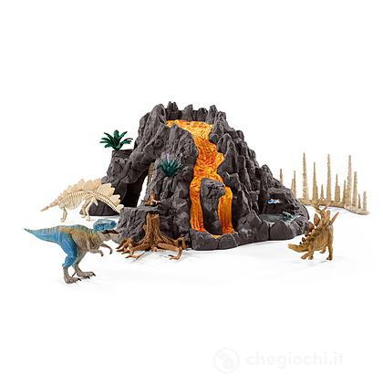 Vulcano Gigante Con Tirannosauro (42305)