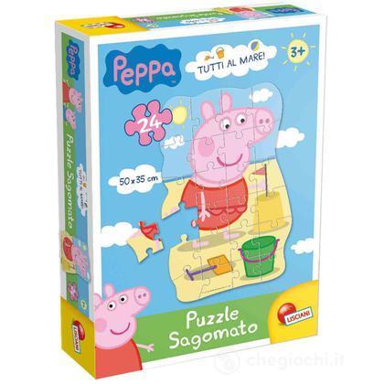 Puzzle Sagomato Peppa Tutti Al Mare