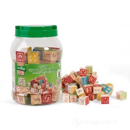 Barattolo cubi legno Legnoland 36578