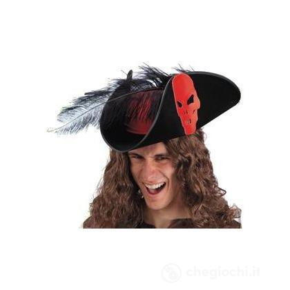 Cappello da pirata con piume