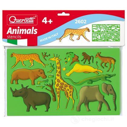 4 Stencils Animali (2602)