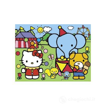 Happy color puzzle 30 pezzi - Hello kitty circo