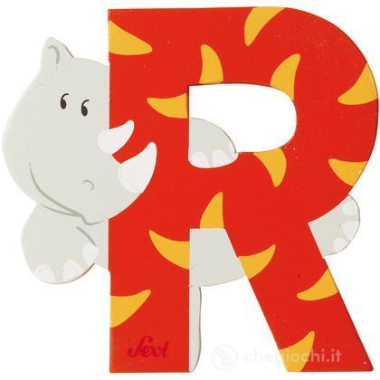 Lettera R Rinoceronte