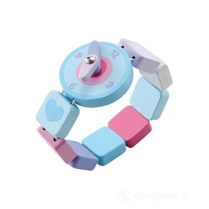 Orologio azzurro/viola (82619)
