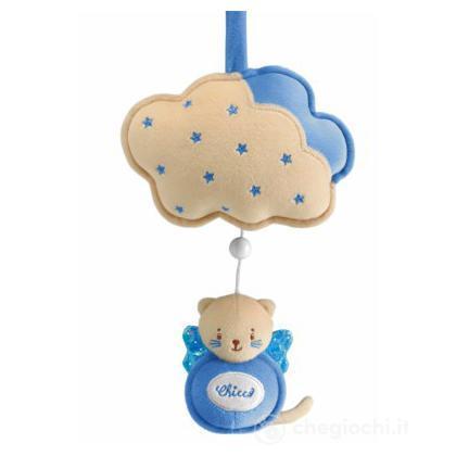 Carillon gattino con nuvolette azzurro