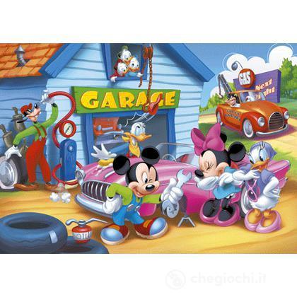 Puzzle 104 pezzi il garage di Topolino