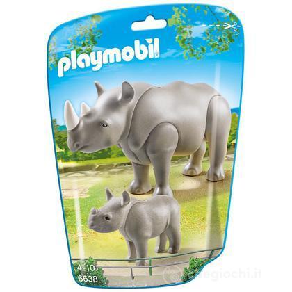 Rinoceronte con cucciolo (6638)