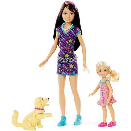 Barbie e le sue Sorelline - Skipper e Chelsea con cane (W3286)