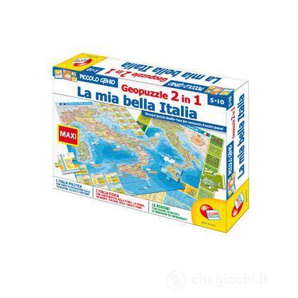 Geopuzzle 2 in 1 la mia bella italia
