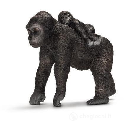 Gorilla femmina con cucciolo (14662)
