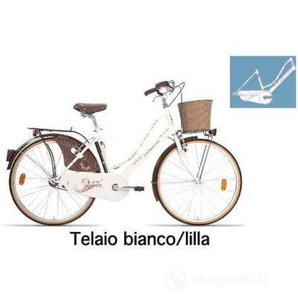 """Bici 26"""" Ferrara Lusso White/Lilia"""