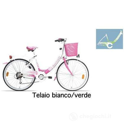 "Bici 26"" Rimini 6v white-green"