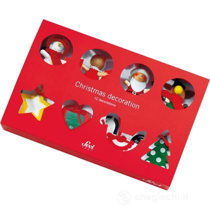 12 decorazioni natalizie
