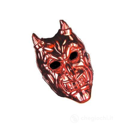 Maschera diavolo metallica