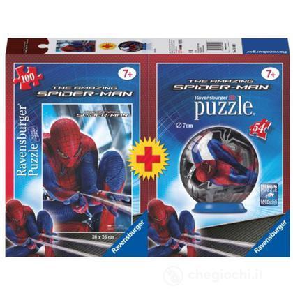 Spider-Man Puzzle 100 pezzi + minipuzzleball 54 pezzi (10694)