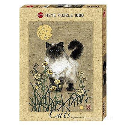 Puzzle 1000 Pezzi - Gatto con Allodola