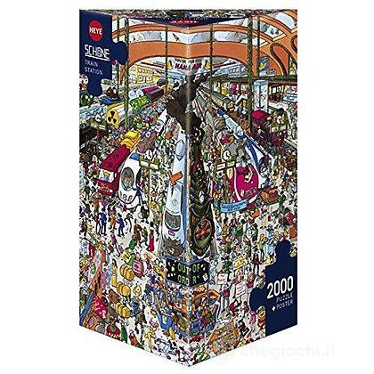 Puzzle 2000 Pezzi Triangolare - Stazione Ferroviaria