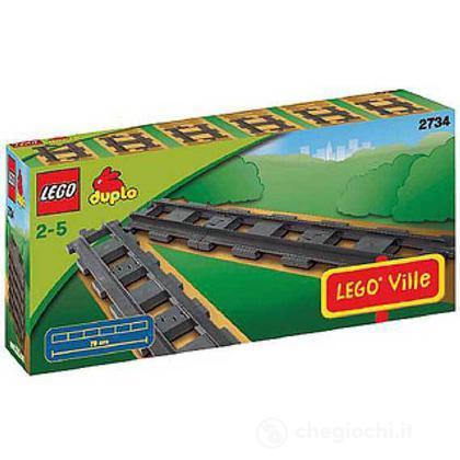 LEGO Duplo - 6 Binari diritti per la ferrovia (2734)