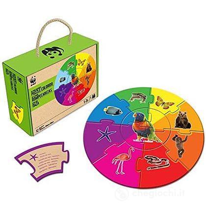 Puzzle colorato della fauna
