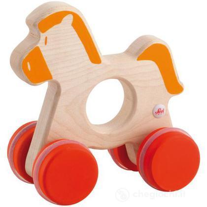 Cavallo arancio con ruote (82748)