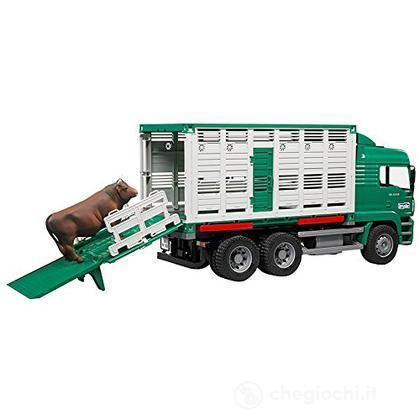 Camion trasporta bestiame con mucca MAN (2749)
