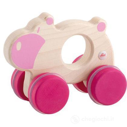 Ippopotamo rosa con ruote (82750)
