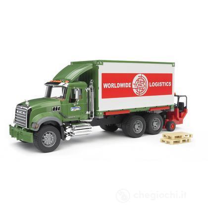 MACK Granite camion porta container con muletto (2820)