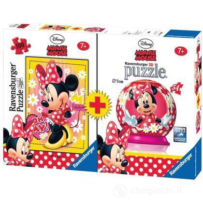 Minnie Mouse Puzzle 100 pezzi + minipuzzleball 54 pezzi (10834)