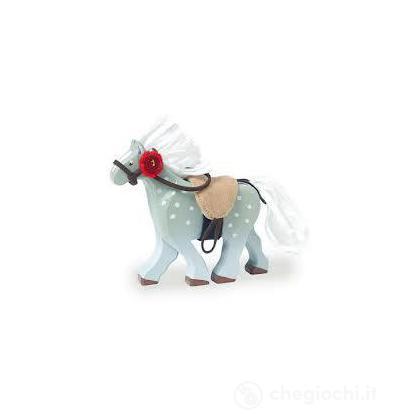 Cavallo grigio con sella (BK836)