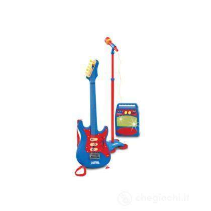 Chitarra elettrica con microfono e amplificatore Spider Man