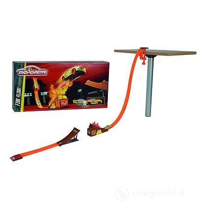 Pista Majorette Stunt Heroes Fire Flight + 1 Crash Car (212058013)